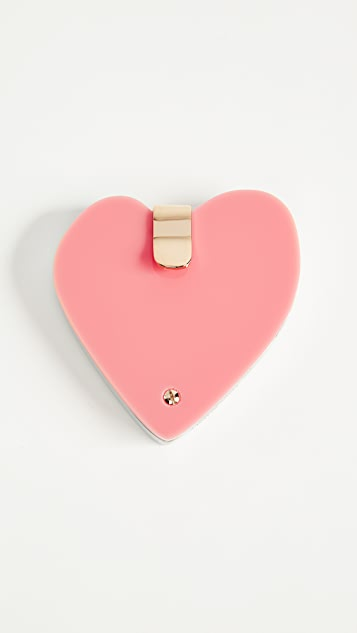 Edie Parker Heart Compact