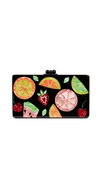 Edie Parker Jean Fruit Cocktail Clutch