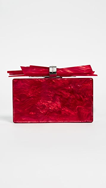 Edie Parker Wolf Acrylic Clutch - Red Pearlescent
