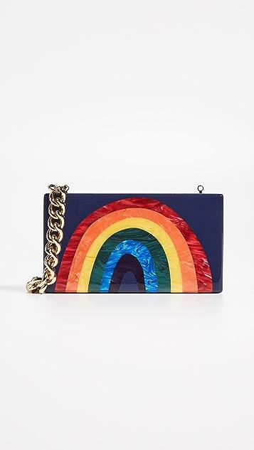 Edie Parker Rainbow Jean Clutch