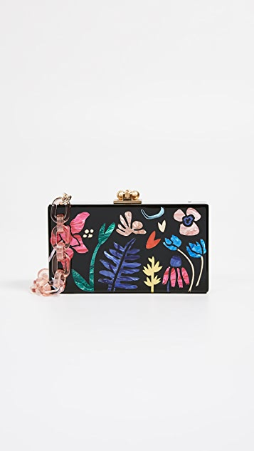 Edie Parker Garden Delight Jean Box Clutch