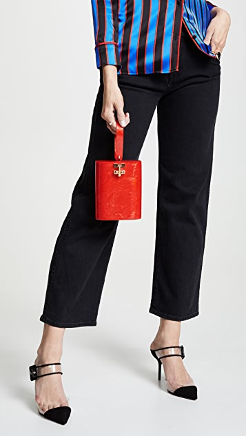 Edie Parker Oval Bag Solid Clutch