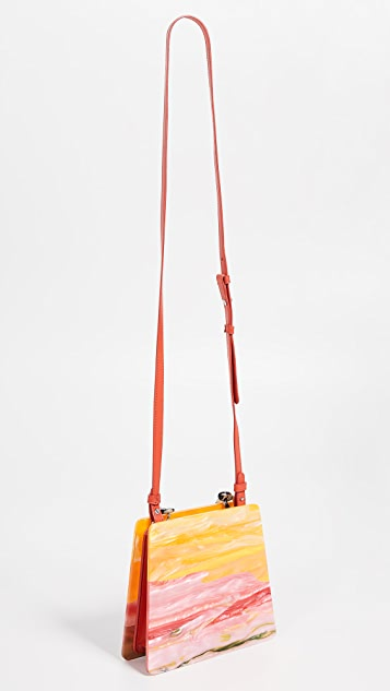 Edie Parker Abstract Sunset Hardshell Bag