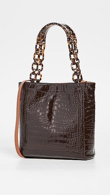 Edie Parker Миниатюрная объемная сумка с короткими ручками