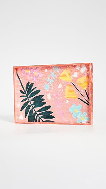 Edie Parker Bodacious Botanical Tray