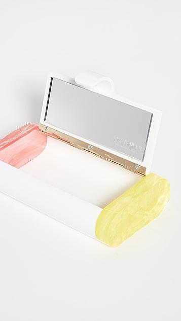Edie Parker Pink Lemonade 化妆手包