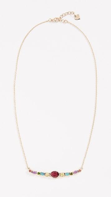 Eden Presley 14K Semi Curved Bar Necklace