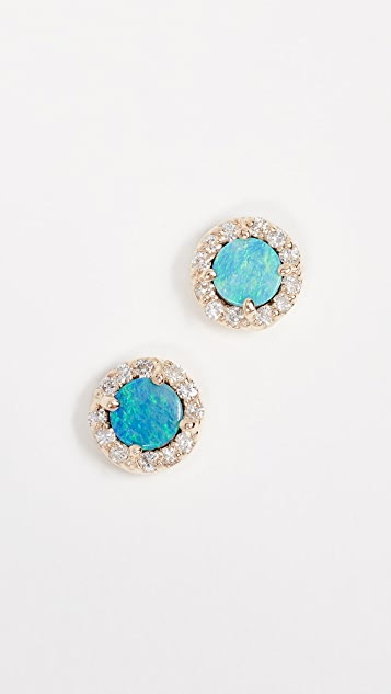 Eden Presley 14k Gold Boulder Diamond Stud Earrings