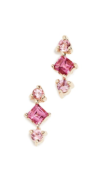 Eden Presley 14k Gold Shades Tourmaline Earrings