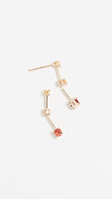 Eden Presley 14k Gold Warm Shades Earrings