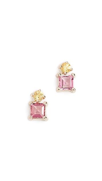 Eden Presley 14k Gold Sapphire Earrings