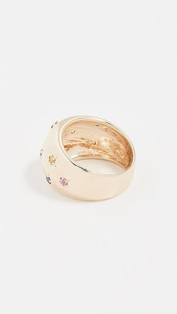 Eden Presley 14k Gold Rainbow Sapphire Celeste Ring