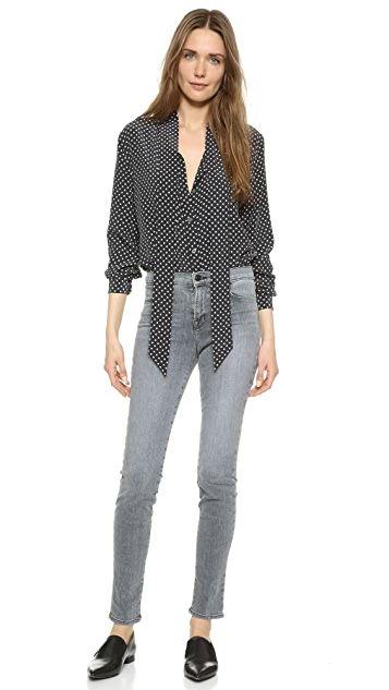 Equipment Kate Moss Collarless Blouse