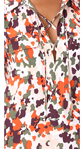 Equipment Short Sleeve Knox Dress