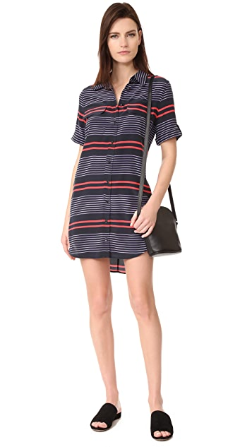 Equipment Short Sleeve Slim Signature Dress