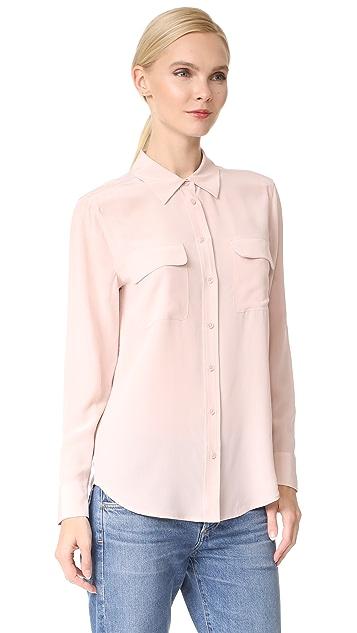 Equipment Облегающая фирменная блуза
