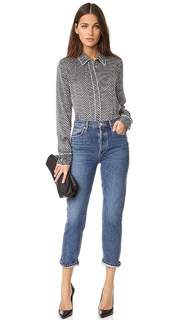 Equipment Kate Moss x Shiloh Pajama Top