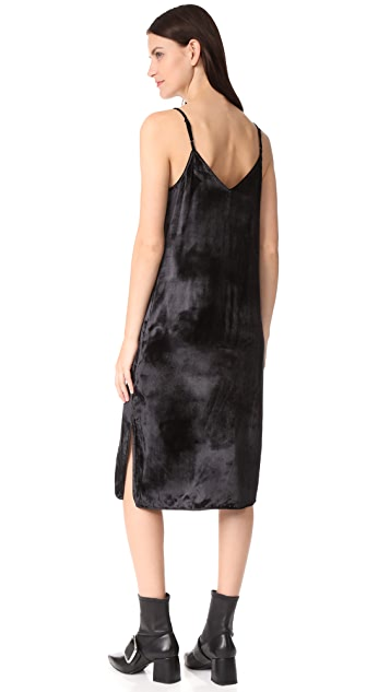 Nia Velvet Dress - Black Equipment 5pigqT