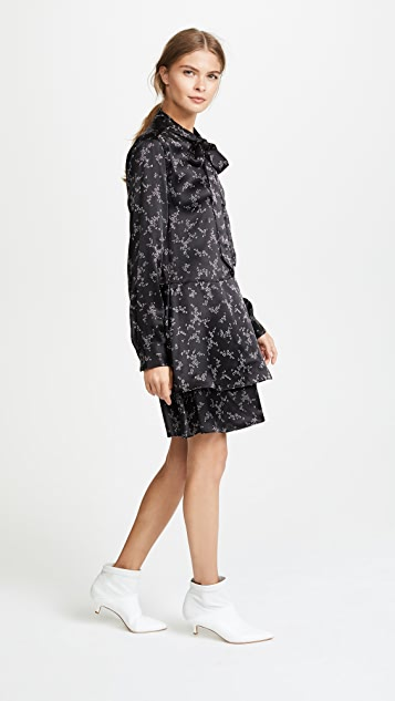 Equipment Natalia Tie Neck Dress