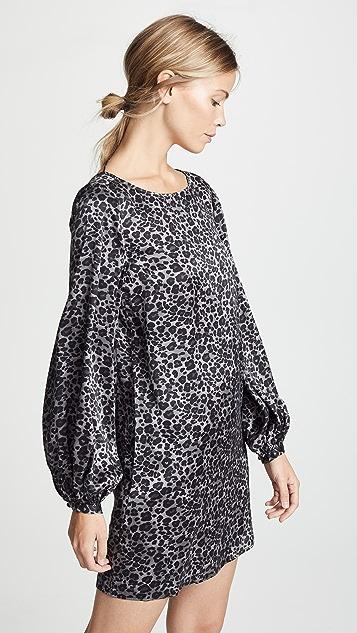 Equipment Zipporah Monochrome Leopard Dress