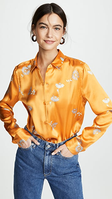 Equipment Margeurite Floral Essential Button Down