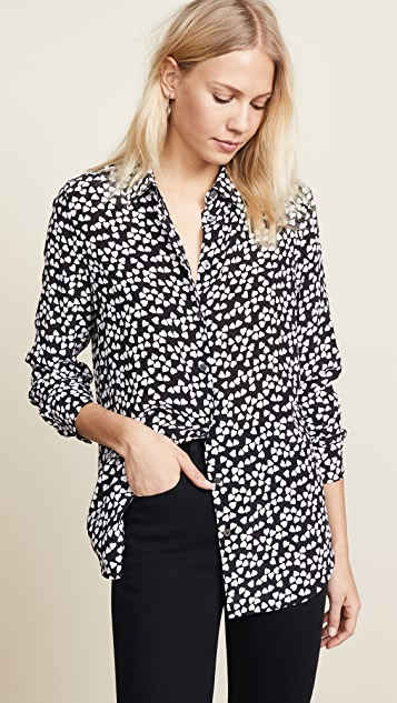 Equipment Essential Blouse - True Black/Bright White