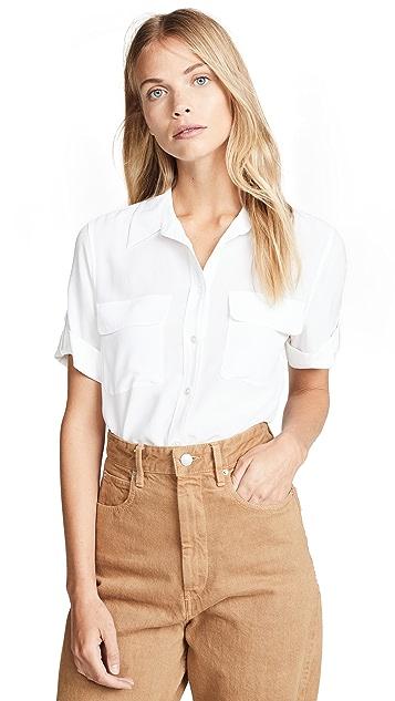 Equipment Фирменная узкая блуза с короткими рукавами