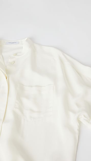 Equipment Alvia 真丝短袖系扣上衣