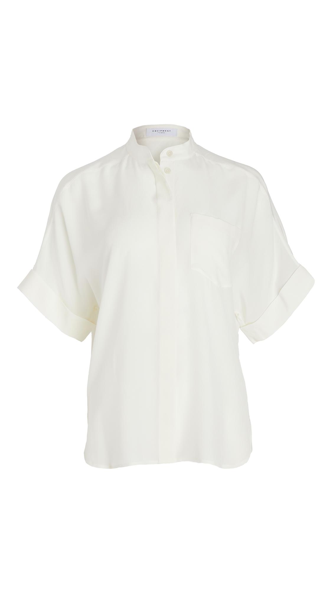 Equipment Alvia Silk Short Sleeve Button Down