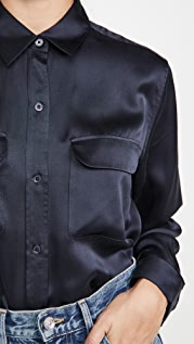 Equipment Signature Button Down Top