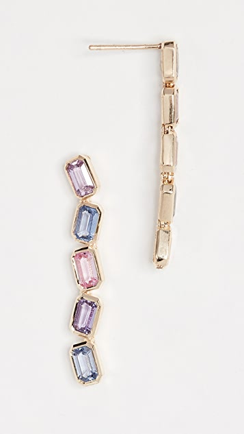 Era 14k Gold Brick Brigade Multi Sapphire Stack Earrings