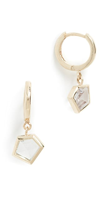 Era 14k Gold Mosaic Sapphire Earrings