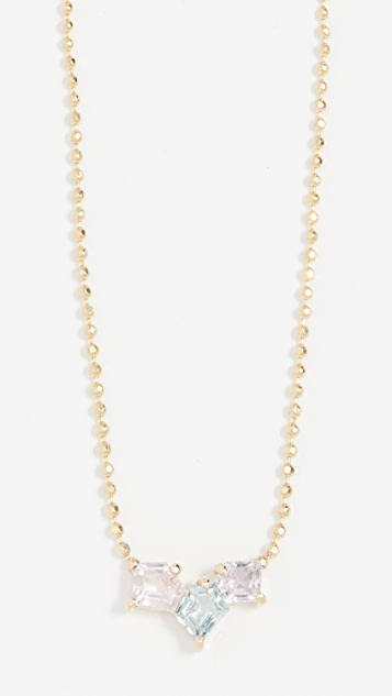 Era 14k Gold Solo Mosaic Trio Necklace
