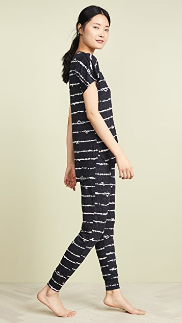 Emerson Road Shibori Stripe PJ Set