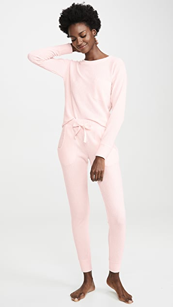 Emerson Road Fuzzy Luxe Waffle PJ Set