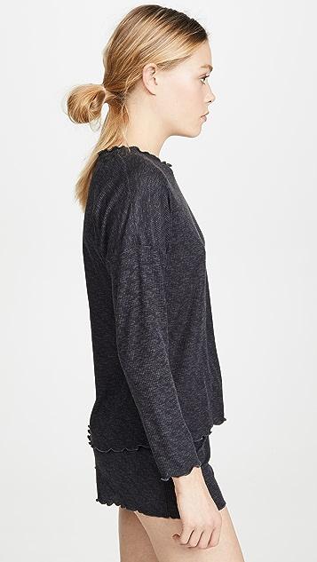 Emerson Road Пижама с шортами Whisperluxe из ткани с вафельной текстурой