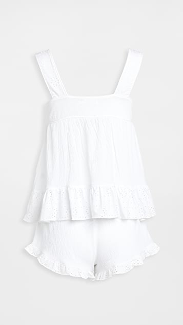 Emerson Road White Eyelet PJ Set