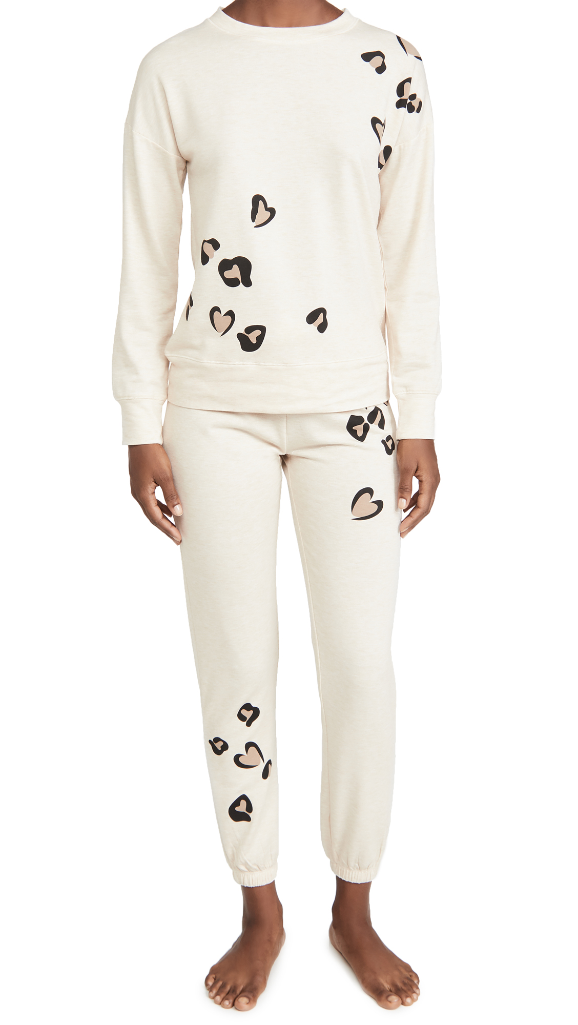 Emerson Road Brushed Butter Leopard PJ Set