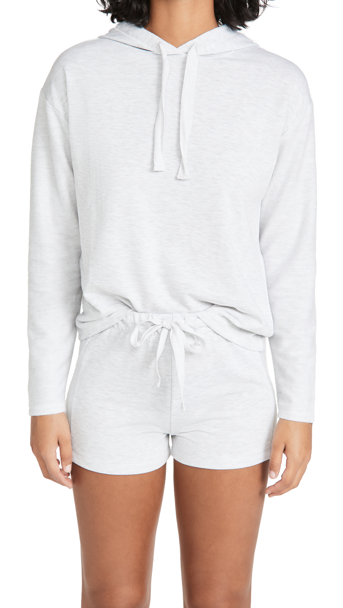 Emerson Road Brushed Butter Sleep Hoodie & Shorts Set
