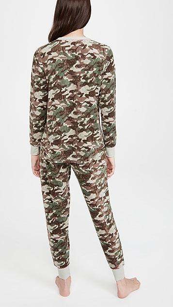 Emerson Road 纹理迷彩长袖睡衣套装