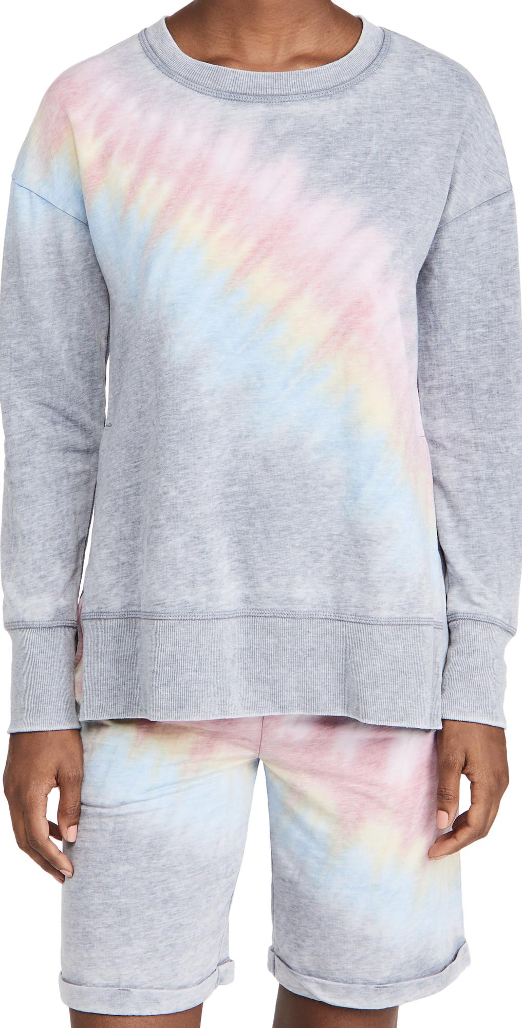 High Low Shirt and Shorts Pajama Set