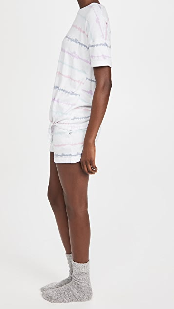 Emerson Road 圆领绑带 T 恤 和短裤套装