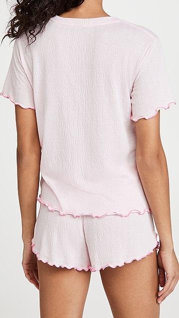 Emerson Road T 恤 & 短裤睡衣套装