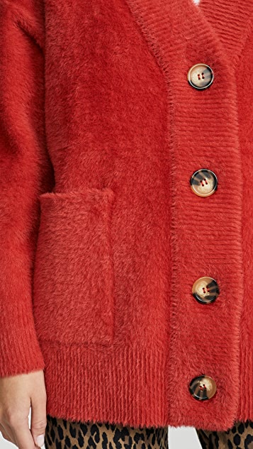 Essentiel Antwerp Turf 柔软条纹开襟衫