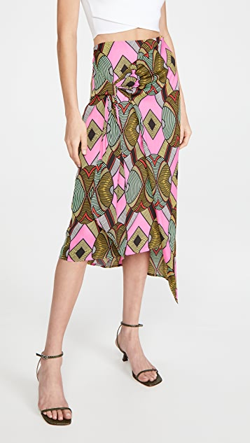 Essentiel Antwerp Whack Knotted Midi Skirt