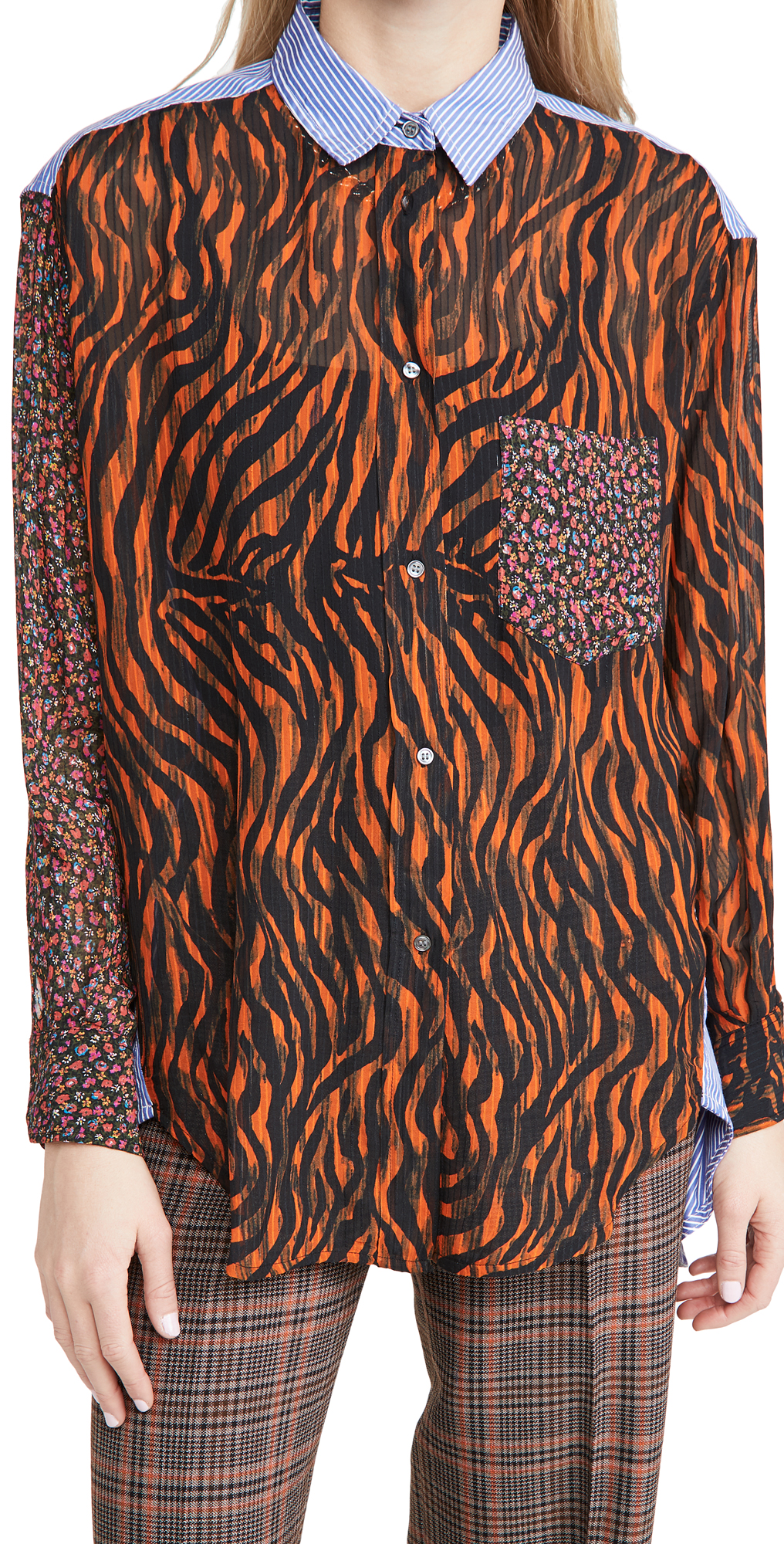Essentiel Antwerp Woozie Mixed Print Shirt