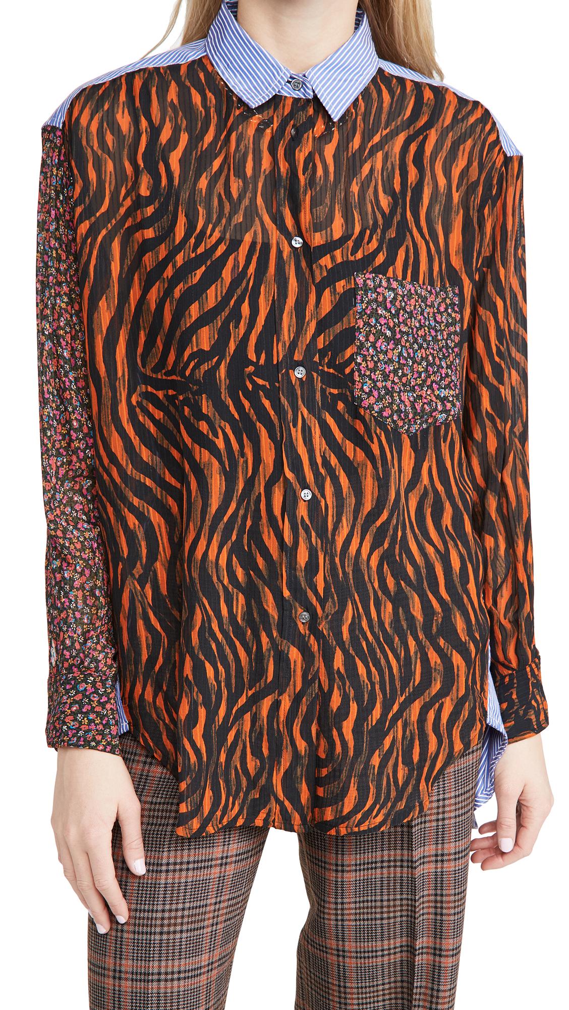 Essentiel Antwerp Woozie Mixed Print Shirt