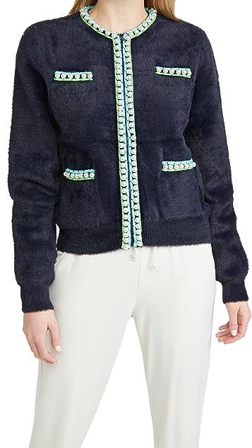 Essentiel Antwerp Wirl 针织人造珍珠系扣衫