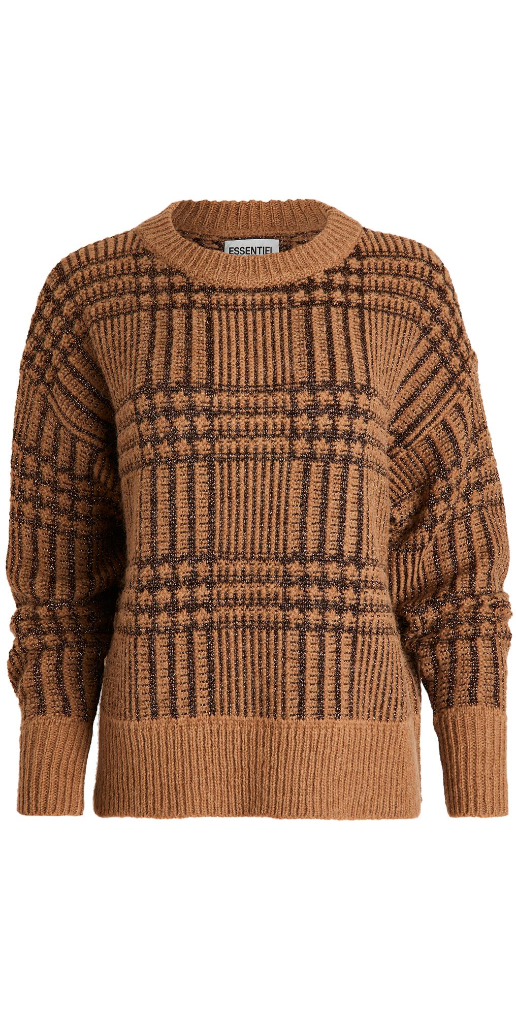 Essentiel Antwerp Werfect Metallic Tartan Pullover
