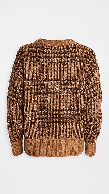 Essentiel Antwerp Werfect 金属色格子套头衫